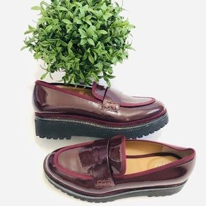 Franco Sarto Shelton Patent Slip On Loafers 5.5M